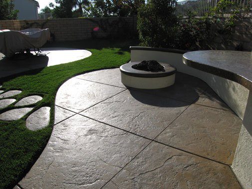 Nice STAMPED CONCRETE PATIO MA