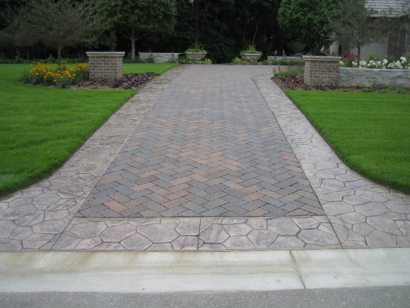 Pin Stamped Concrete Driveway Cost Calculator How Much