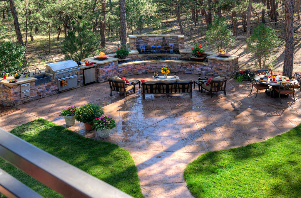 Stamped concrete nh ma me decorative patio pool deck walkwaynh stamped concrete patio ideas ma - Concrete backyard design ...