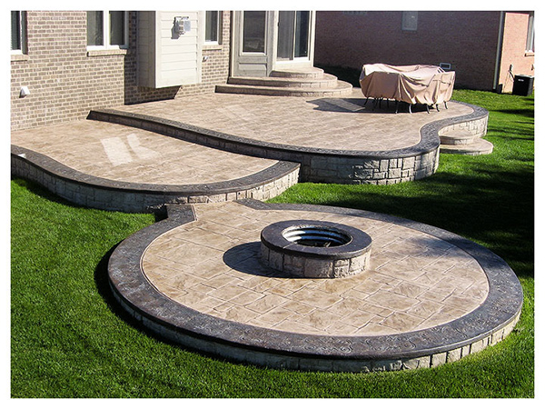Stamped concrete nh ma me decorative patio pool deck walkwaynh concrete patios ma me cost design - Concrete backyard design ...
