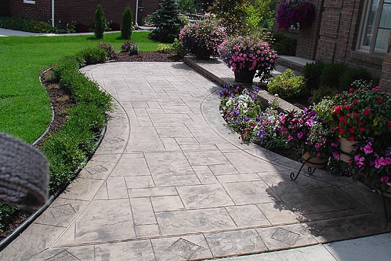 patio pool deck walkwaynh decorative concrete walkway ma me photo cost